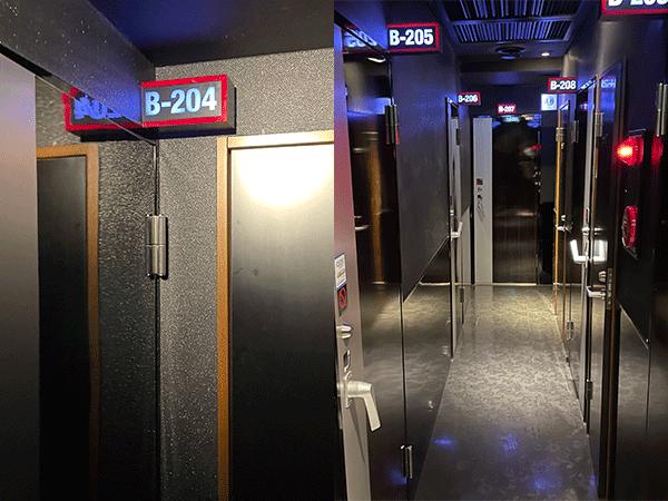 案内されたB-204の個室へ