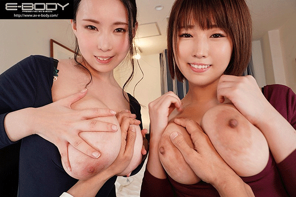 McupとJcup神乳サンドイッチ逆3P!W爆乳女上司とまさかの相部屋VR